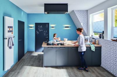 Fa beltéri ajtó - konyha / étkező ötlet, modern stílusban
