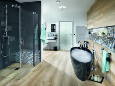 Fa beltéri ajtó - fürdő / WC ötlet, modern stílusban