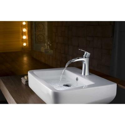 Pultra ültethető mosdótál - fürdő / WC ötlet, modern stílusban