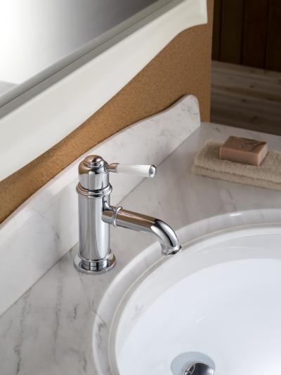 Egykaros mosdó csaptelep - fürdő / WC ötlet, klasszikus stílusban
