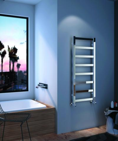 Szögletes fürdőszoba radiátor - fürdő / WC ötlet, modern stílusban
