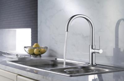 Egykaros mosogató csaptelep - konyha / étkező ötlet, modern stílusban