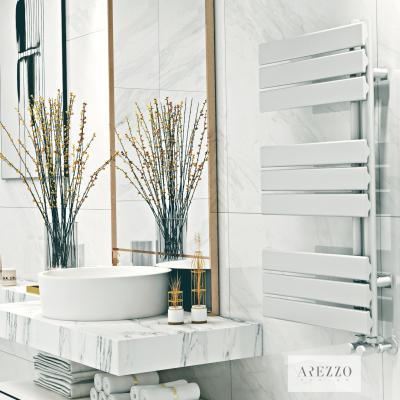 Fehér fürdőszoba radiátor - fürdő / WC ötlet, modern stílusban