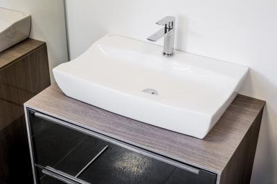 Különleges formájú mosdó - fürdő / WC ötlet, modern stílusban