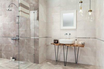 Tubadzin Muse - fürdő / WC ötlet, modern stílusban