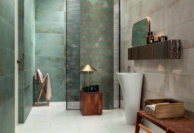 Tubadzin Goldgreen - fürdő / WC ötlet, modern stílusban