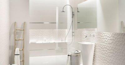 Tubadzin All In White - fürdő / WC ötlet, modern stílusban