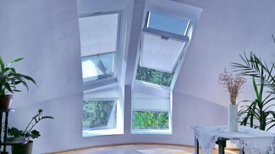 Árnyékolás a tetőtérben - tetőtér ötlet, modern stílusban