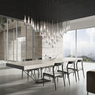 Különleges kristálylámpa - konyha / étkező ötlet, modern stílusban