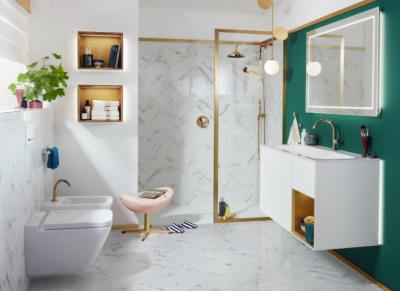 Elegáns szaniterek - fürdő / WC ötlet, modern stílusban