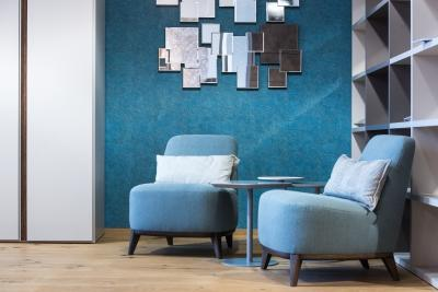 Kényelmes fotelek - nappali ötlet, modern stílusban
