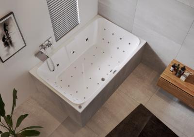 Jacuzzi a fürdőben - fürdő / WC ötlet, modern stílusban