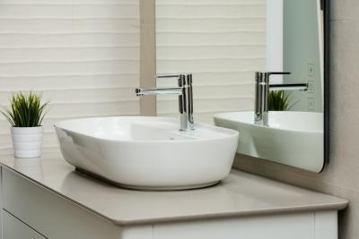 Ovális mosdó - fürdő / WC ötlet, modern stílusban