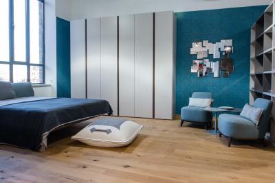 Kék hálószoba - háló ötlet, modern stílusban