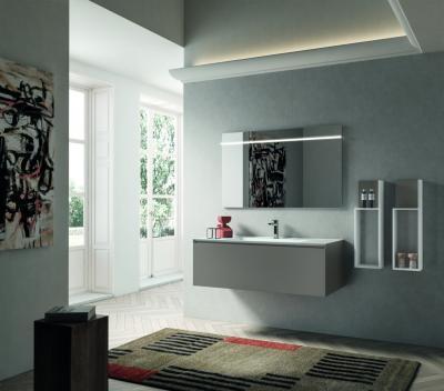 Tágas mosdószekrény - fürdő / WC ötlet