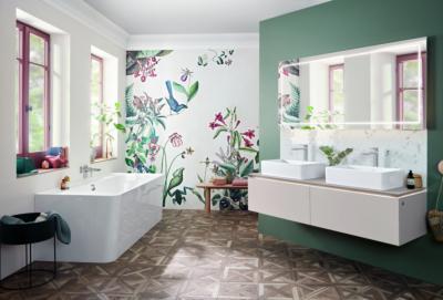 Elegáns és egyedi fürdőszoba - fürdő / WC ötlet, modern stílusban
