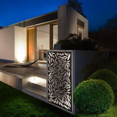 Solart Panel dekoratív fém panel szolár fénysorral - kert / udvar ötlet, modern stílusban