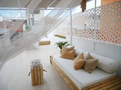 Mosaic dekoratív panel - erkély / terasz ötlet, modern stílusban