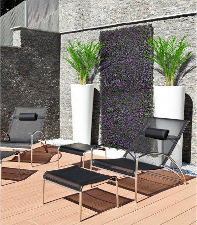 Vertical Lavanda zöldfal levendulával - erkély / terasz ötlet, modern stílusban