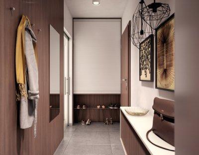 RAUVOLET bútorredőny - előszoba ötlet, modern stílusban