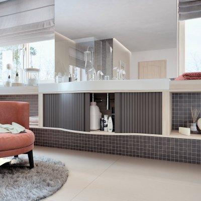 RAUVOLET bútorredőny - fürdő / WC ötlet, modern stílusban