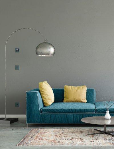 Okosotthon kapcsolókkal - nappali ötlet, modern stílusban