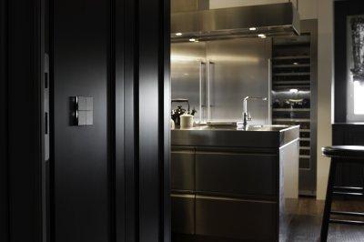 Különleges fali kapcsoló - konyha / étkező ötlet, modern stílusban
