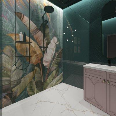 Fürdőszoba színesen - fürdő / WC ötlet, modern stílusban