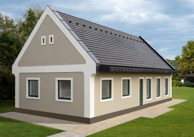 Lakóház napelemes tetőcseréppel - tető ötlet