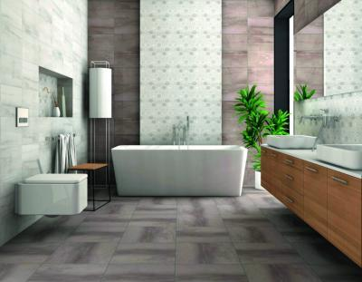 Szürke és pasztell hidegburkolatok - fürdő / WC ötlet, modern stílusban