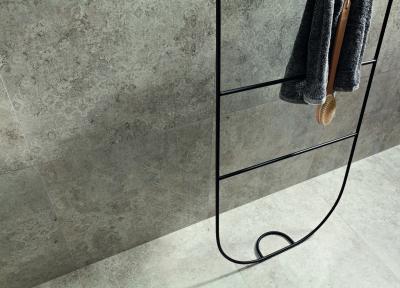 Betonszürke burkolat - fürdő / WC ötlet