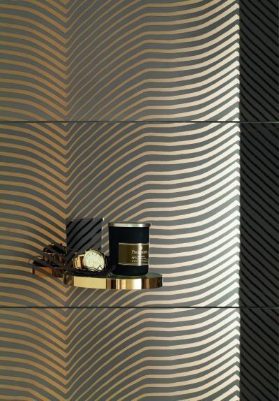 Aranymintás csempe - fürdő / WC ötlet, modern stílusban