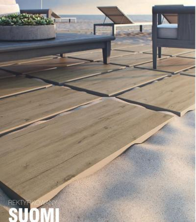 Fahatású csempe - erkély / terasz ötlet, modern stílusban