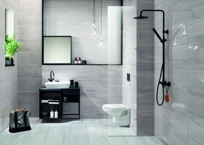 Magasfényű csempe - fürdő / WC ötlet, modern stílusban