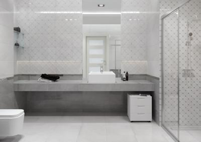 Dekoratív csempék - fürdő / WC ötlet, modern stílusban