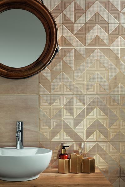 Különleges csempék - fürdő / WC ötlet, modern stílusban