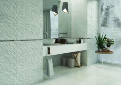 Különleges csempe felület - fürdő / WC ötlet, modern stílusban