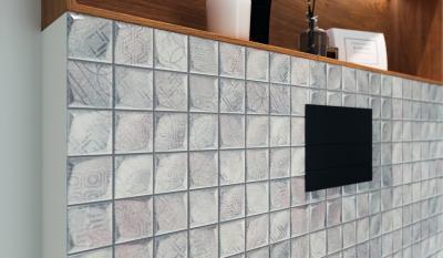 Domború, mintás lapok - fürdő / WC ötlet, modern stílusban