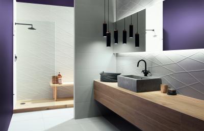 Dombornyomott burkolatok - fürdő / WC ötlet, modern stílusban