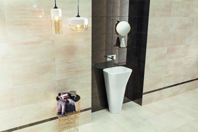 Kő jellegű és dekor burkolat - fürdő / WC ötlet, modern stílusban