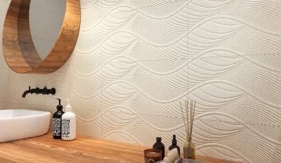 Hullámos felületű csempe - fürdő / WC ötlet, modern stílusban