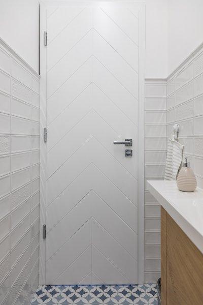 Pascal Pure White nyíló beltéri ajtó, festett fehér felülettel - fürdő / WC ötlet, modern stílusban