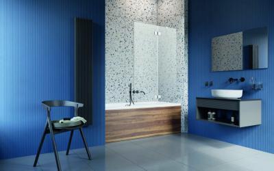Üveg kádparaván - fürdő / WC ötlet, modern stílusban
