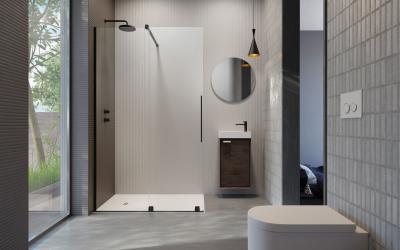 Üveg zuhanyfal - fürdő / WC ötlet, modern stílusban