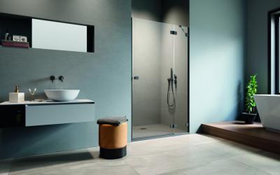 Üveg zuhanyajtó - fürdő / WC ötlet, modern stílusban