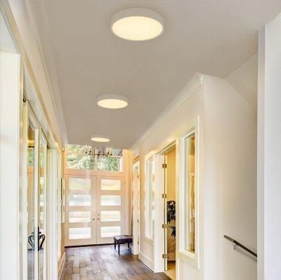 Mennyezeti LED világítás okos LED panellel - előszoba ötlet, modern stílusban