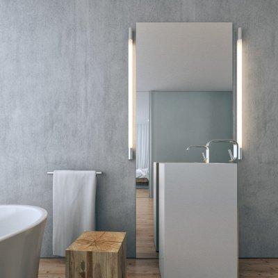 Modern tükörvilágítás - fürdő / WC ötlet, modern stílusban