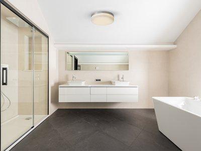 Hangulatos fürdőszobai mennyezeti lámpa - fürdő / WC ötlet, modern stílusban