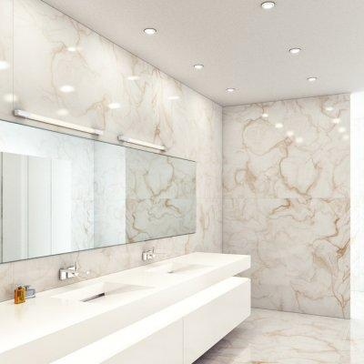 Fürdőszobai tükörvilágítás - fürdő / WC ötlet, modern stílusban