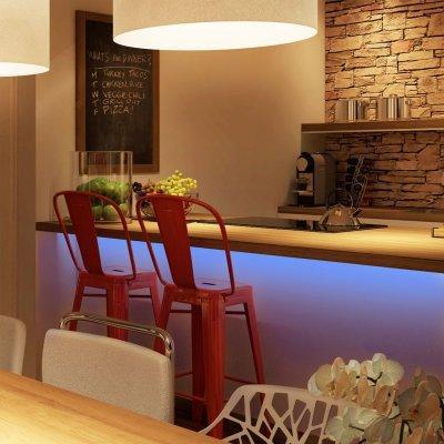 Okos (SMART) konyhai hangulatvilágítás - konyha / étkező ötlet, modern stílusban